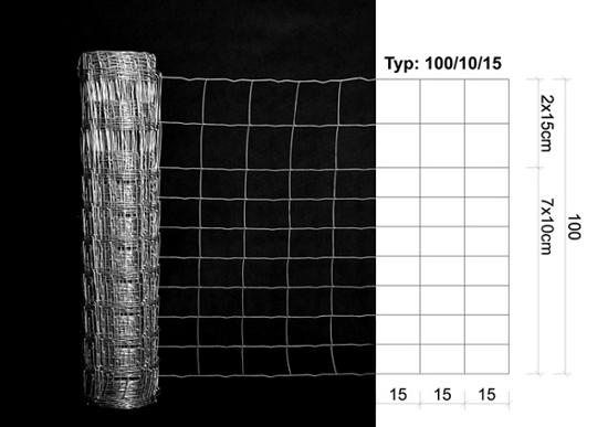 Fotografija izdelka Pocinkana zaščitna mreža 100 cm / 50 m
