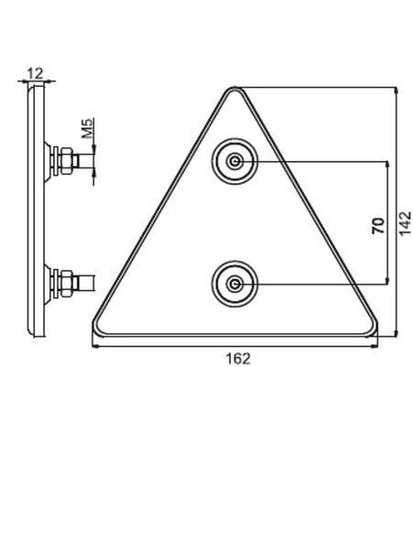 Trikotnik odsevni