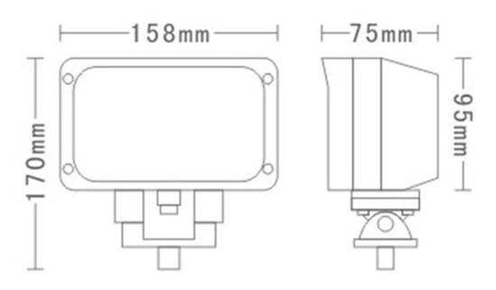 Delovna luč LED, 45 W