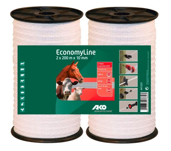 TRAK za el. pastir EconomyLine (10 mm, 2 x 200 m)