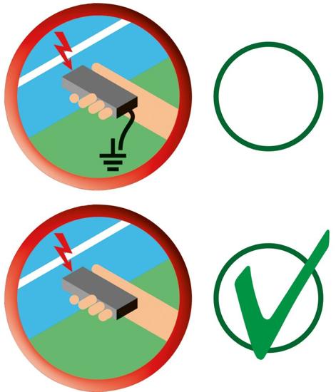 BREZSTIČNI merilnik napetosti el. pastirja do 8 kV, AKO, LED
