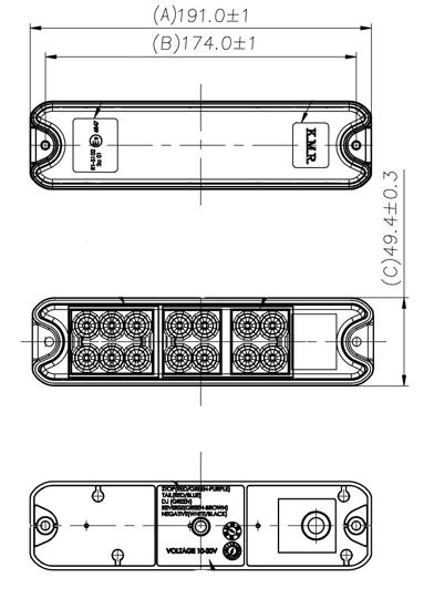 Fotografija izdelka Zadnja luč 18 LED (12/24 V),  KAMAR