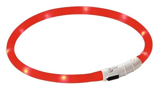 Fotografija izdelka Odsevna ovratnica za psa Maxi Safe, rdeča