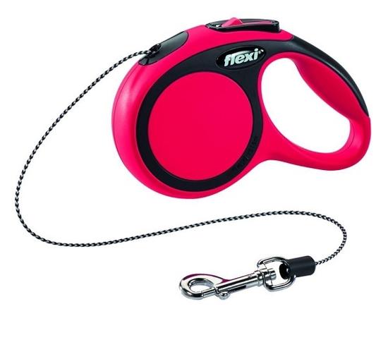 Fotografija izdelka Flexi povodec Comfort Lead, XS - 3m/8kg, rdeč