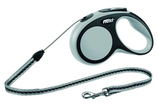 Fotografija izdelka Flexi povodec Comfort Lead, S - 5m/12kg, siv