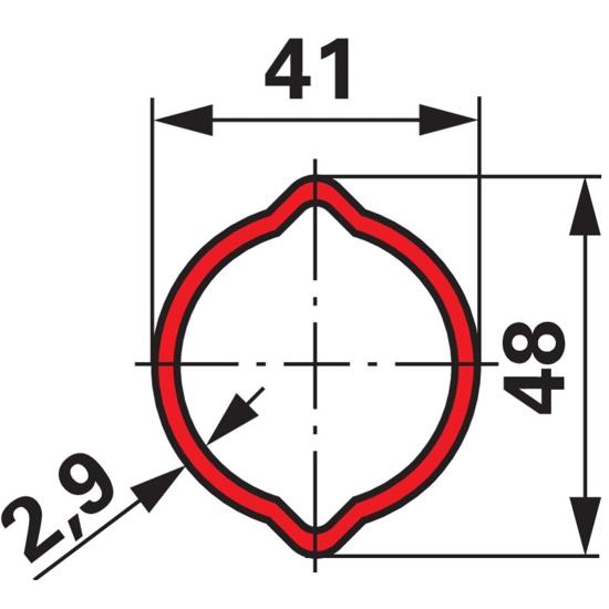 Fotografija izdelka Kardanska cev LIMONA profil 41x2,9mm