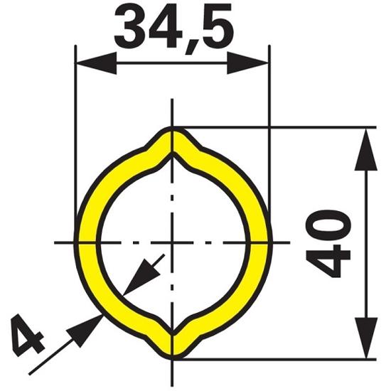 Fotografija izdelka Kardanska cev LIMONA profil 34,5x4mm