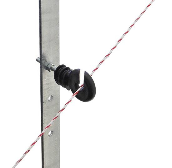 Fotografija izdelka Izolator okrogli z zarezo 35 x 6mm črni - 25/1