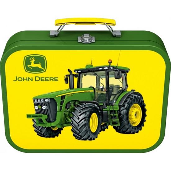 Fotografija izdelka Igrača Puzzle box 4/1 -  John Deere v kovinskem kovčku, SCHMIDT
