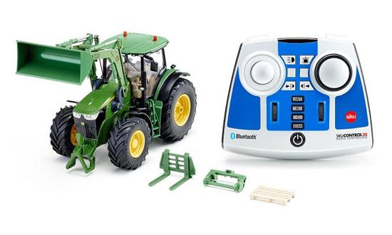 Fotografija izdelka Igrača Traktor John Deere 7310R s prednjim nakladačem
