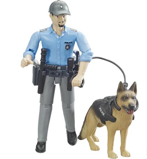 Fotografija izdelka Igrača Policist s psom  BRUDER