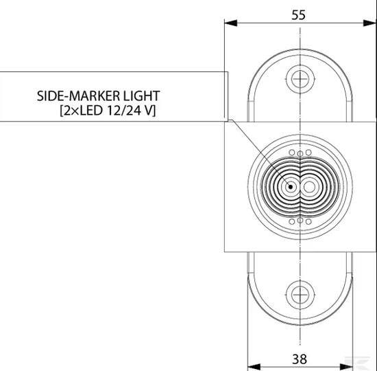 Fotografija izdelka Označevalna LED luč; 12/24V 3LED Kramp