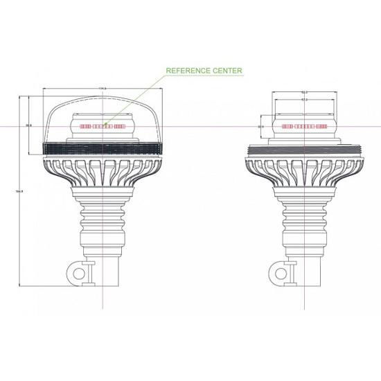 Fotografija izdelka Svetilka rotacijska LED nasadna