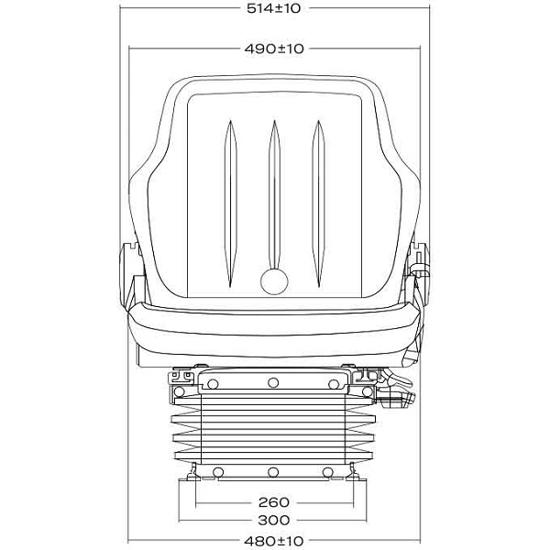 Fotografija izdelka Sedež zračni PROBOSS AS1480