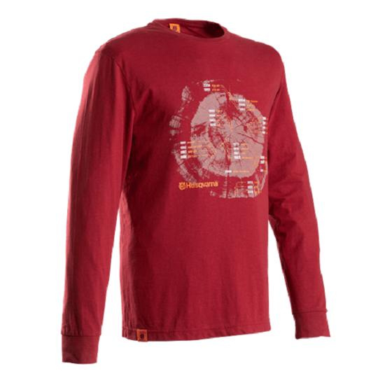 Fotografija izdelka Majica z dolgimi rokavi Husqvarna L rdeča
