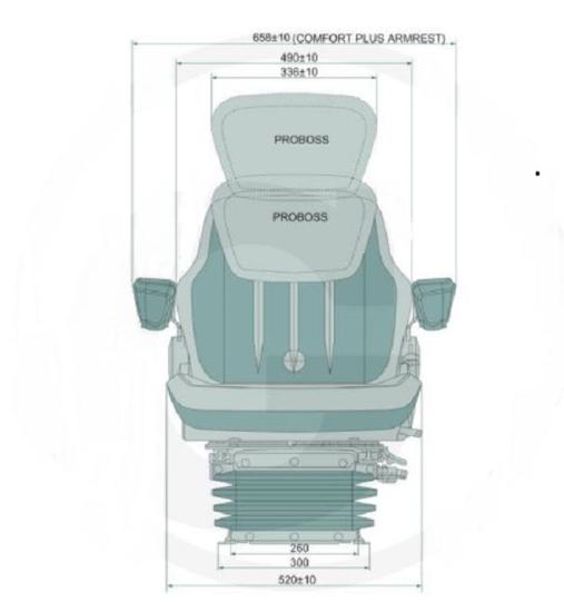 Fotografija izdelka Sedež zračni PROBOSS AS3520