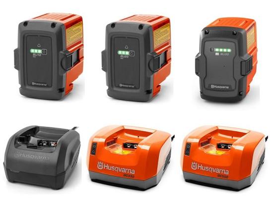 Fotografija izdelka Baterijski set Husqvarna  SEMI-PRO II.QC250+BLi30+škatla