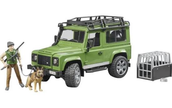 Fotografija izdelka Igrača Džip Land Rover z  gozdarjem in psom