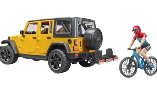 Fotografija izdelka Igrača Jeep Wrangler s kolesarjem in gorskim kolesom