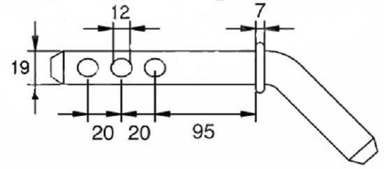 Fotografija izdelka Sornik priklopa ukrivljen  fi : 19, L : 160 mm