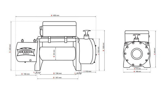 Fotografija izdelka Električni vitel DWM 8000 HD -3692 kg