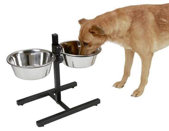 Fotografija izdelka Stojalo za hranjenje živali z nerjavečima posodama