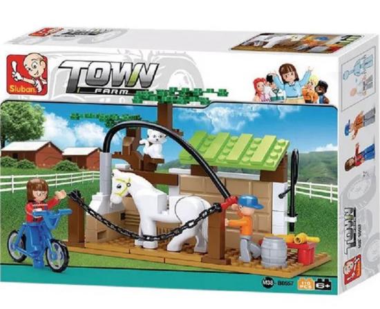 Fotografija izdelka Igrača Lego Town Farm z dvema figurama